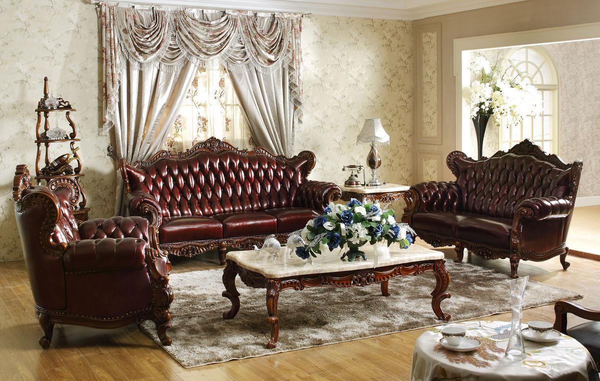 法式沙发 深色 茶几图片