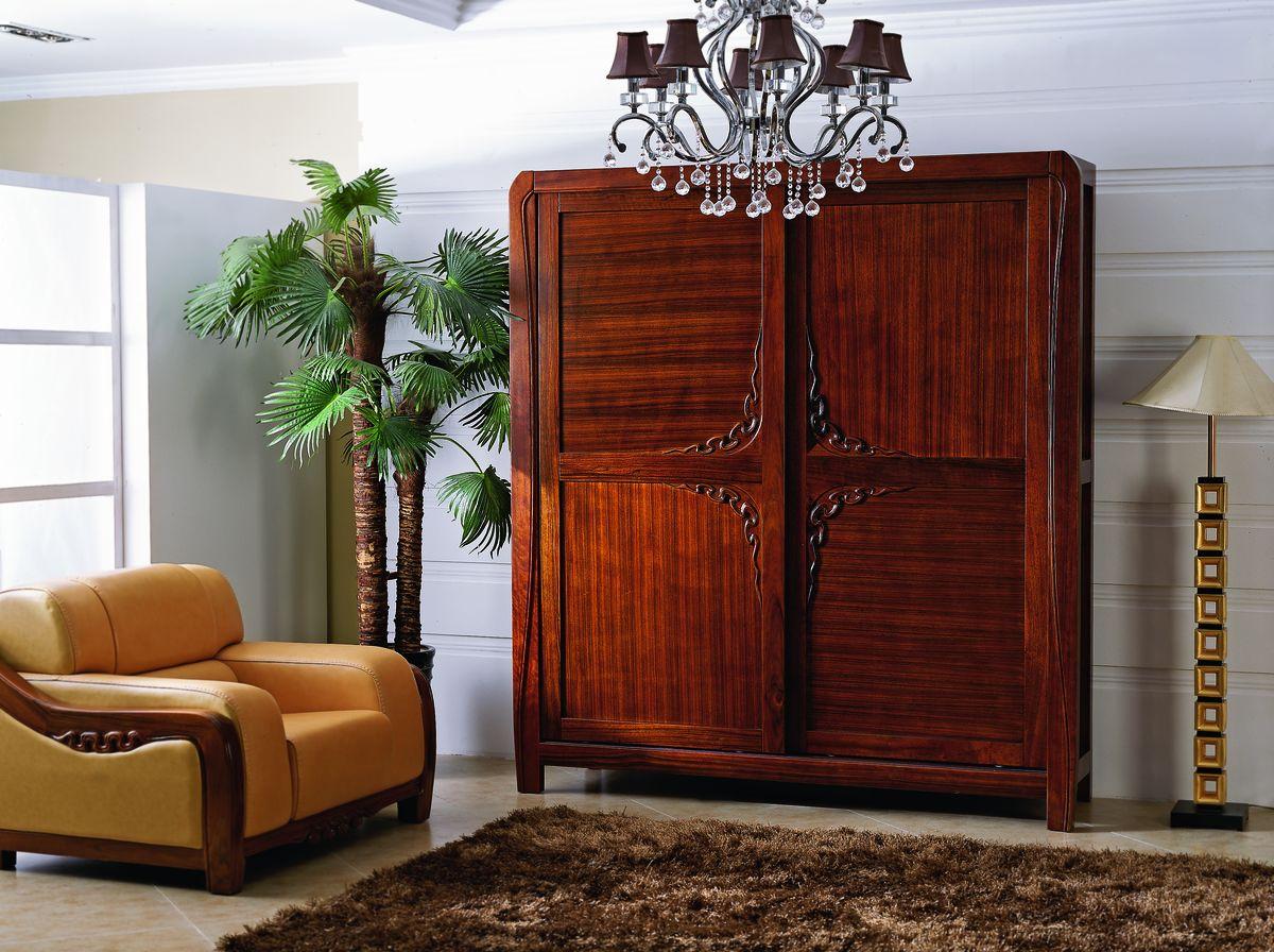 趟门衣柜 新中式家具图片