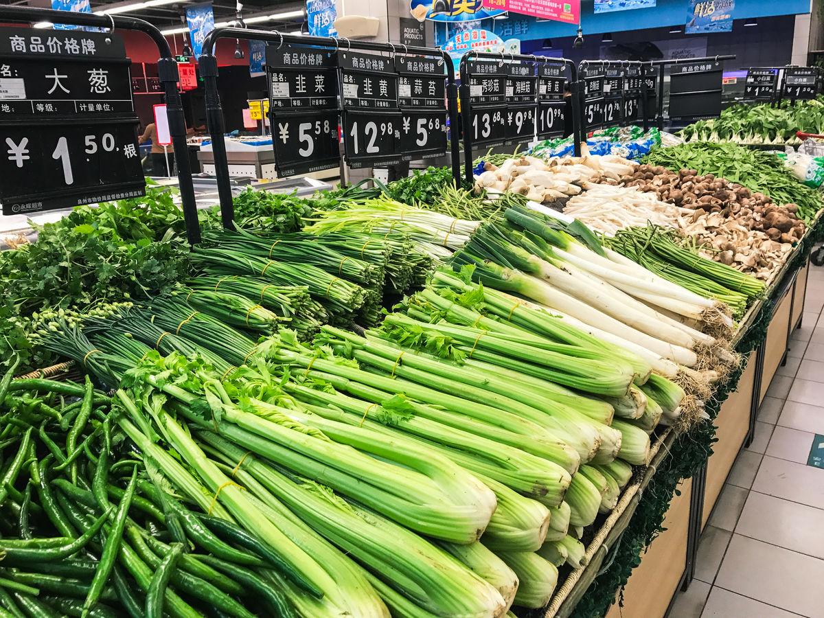 蔬果区,超市蔬菜区,超市蔬菜水果区,超市生鲜区商品陈列,蔬菜区,水果图片