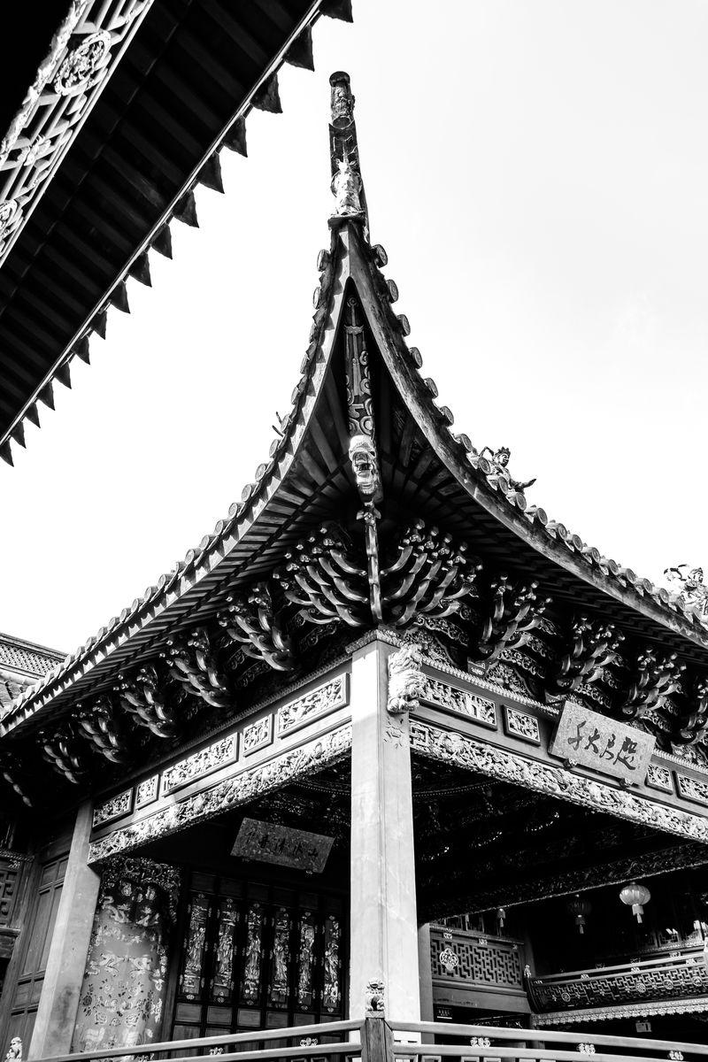 戏台屋檐翘角 中式屋檐 中国风图片