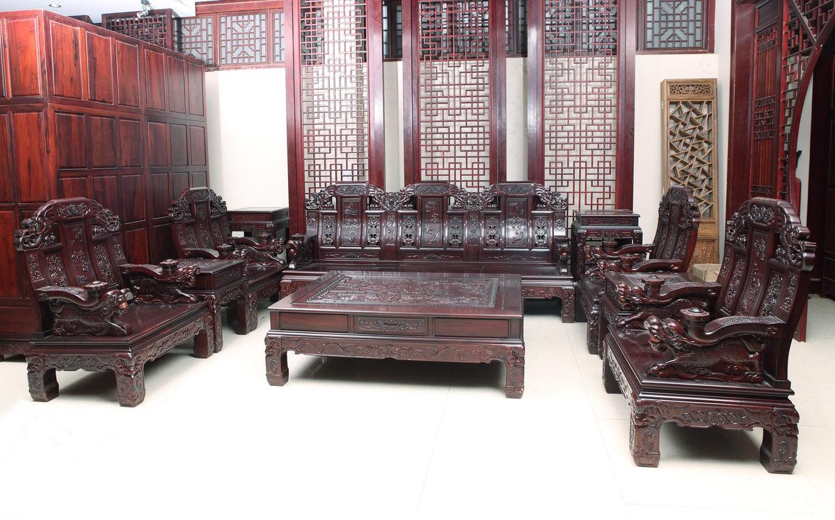 中式沙发 中式客厅 中式装修图片
