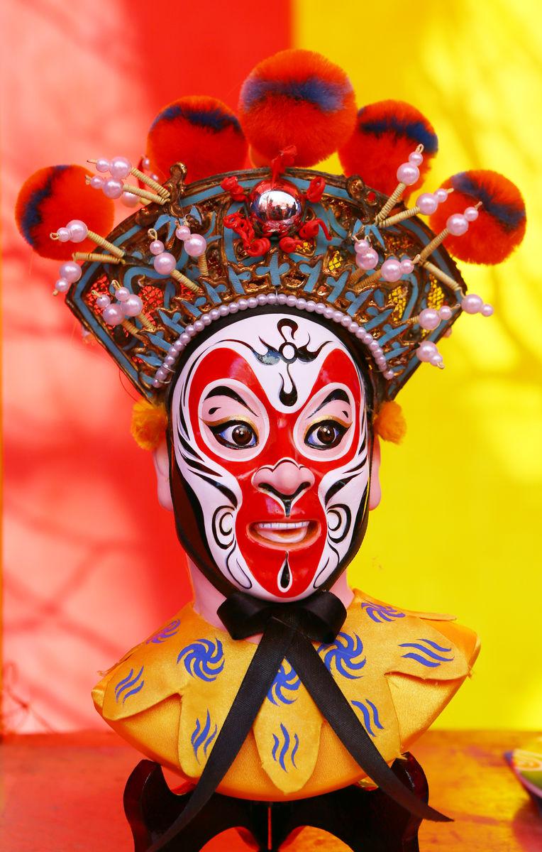 手工艺品,艺术精品,雕塑,木雕,彩绘,脸谱,中国元素,京剧脸谱,孙悟空图片