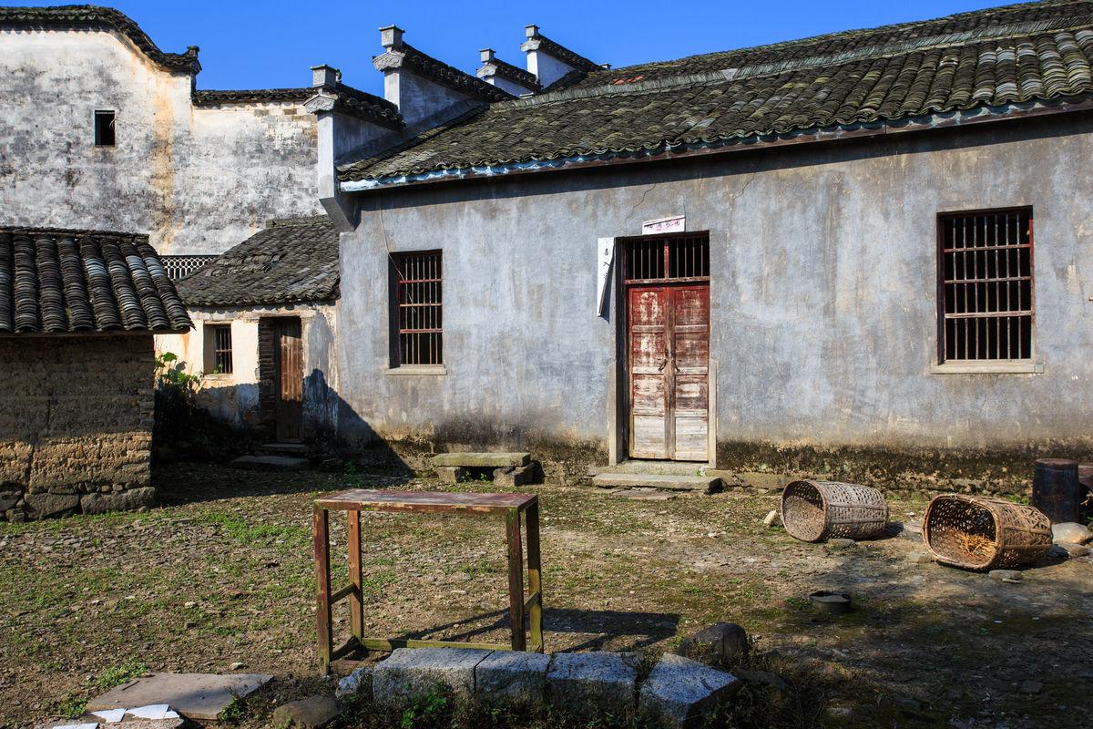 瓦房,农家院落,乡村民居,农家小院,箩篼,农村民居,高凳,徽派建筑图片
