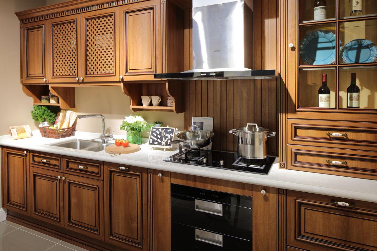 家居,家私,实木雕花,中式家具,中式风格,现代风格家具,实木橱柜,厨房图片
