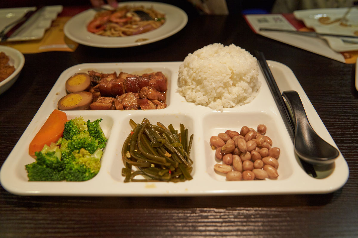 卤肉套饭,台式卤肉饭,台湾卤肉饭,中式快餐,套餐,快餐,工作餐图片