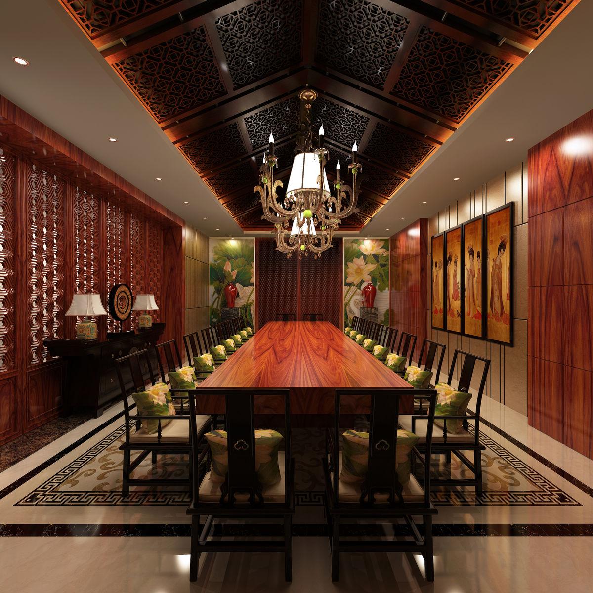豪华包房,中式包房,中式餐厅,大板包房,古典包房,中式装修,包房吊顶图片