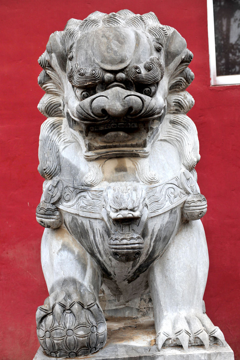 石雕,石狮,狮子,石头,雕刻,雕塑,石狮子,寺庙建筑,中国元素,雕像图片