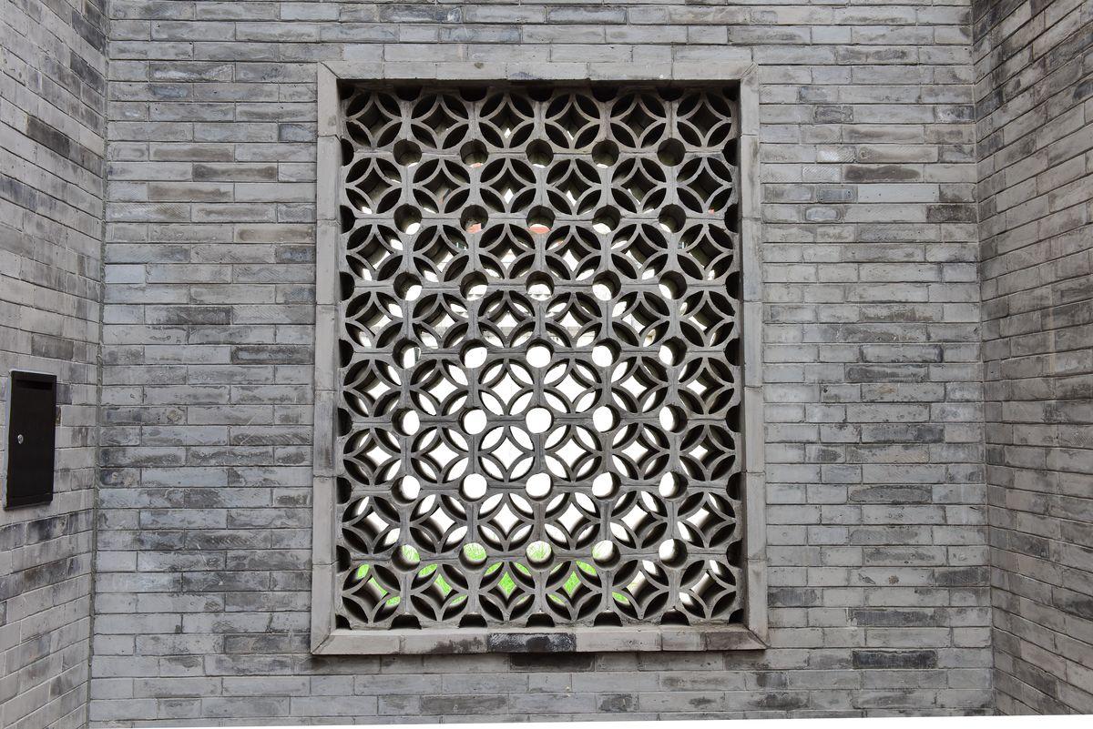 中式镂空墙,青砖墙面,瓦墙,镂空墙,老建筑墙面,墙面素材,古建筑素材图片