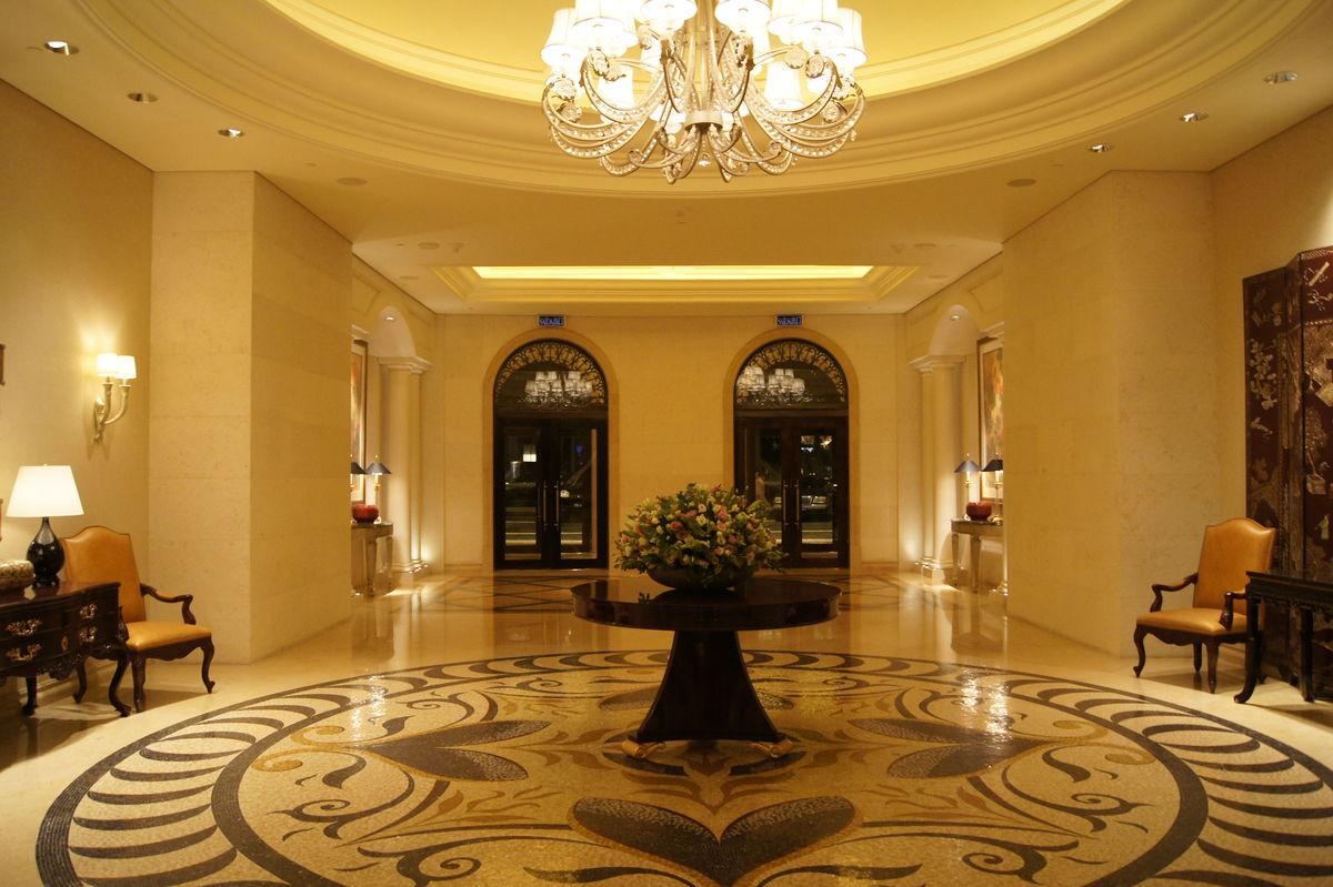 酒店大堂,马赛克拼花,大理石铺贴,公共空间,水晶灯,室内设计,欧式图片