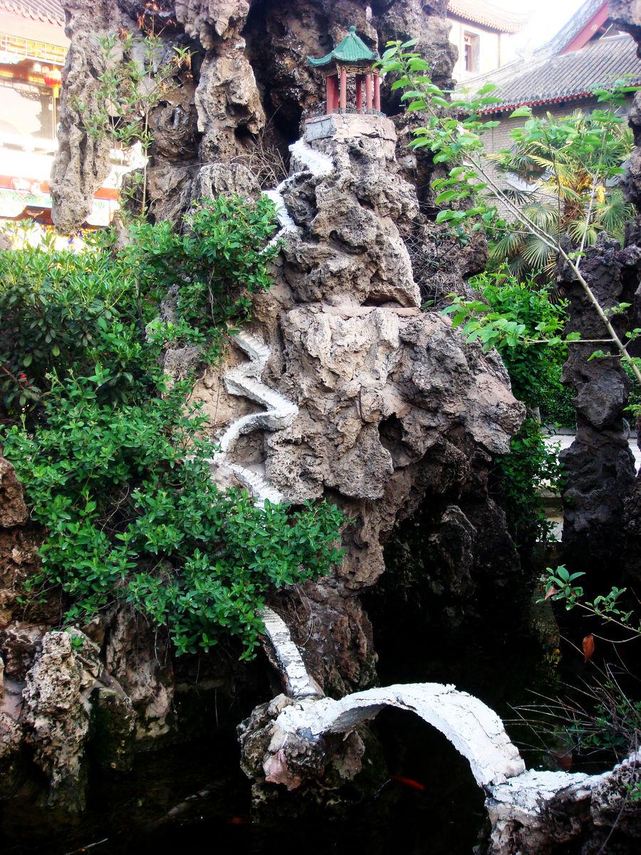 古典元素,古典装饰,假山盆景,中式古典园林,院子,小区景观,石景水景图片