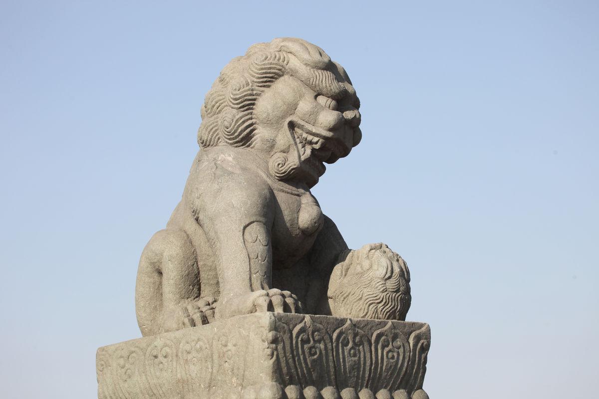 卢沟桥的狮子图片