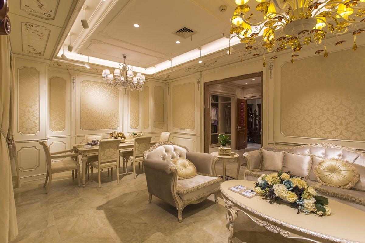 装潢设计,欧式室内,室内设计,室内摄影,样板房精装修,沙发,茶几,灯带图片