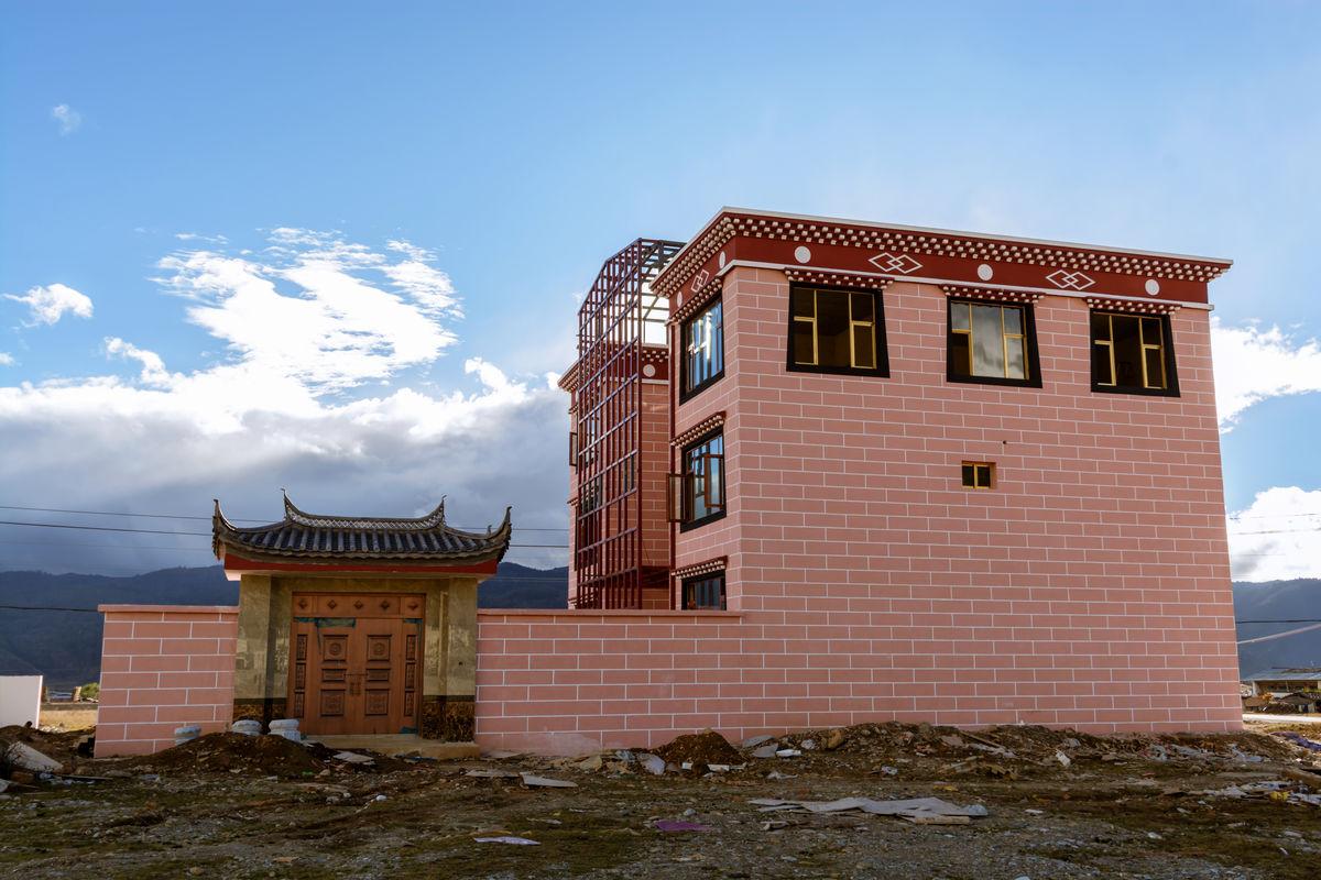 藏民住所 藏式住宅图片