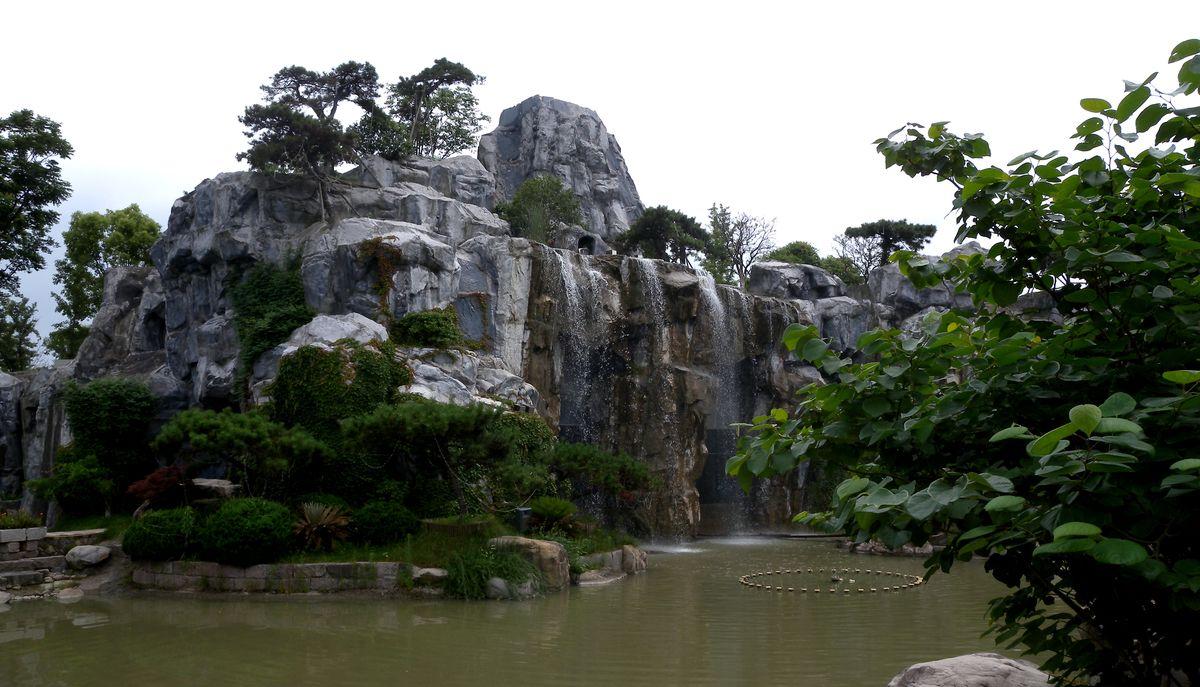 假山,公园,瀑布,水景,园林,溪流,山泉,石头,假山石,园林景观,假山造型图片