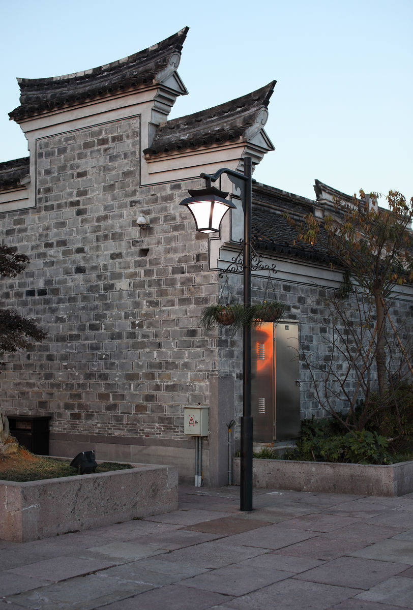 中式景观灯实景图片