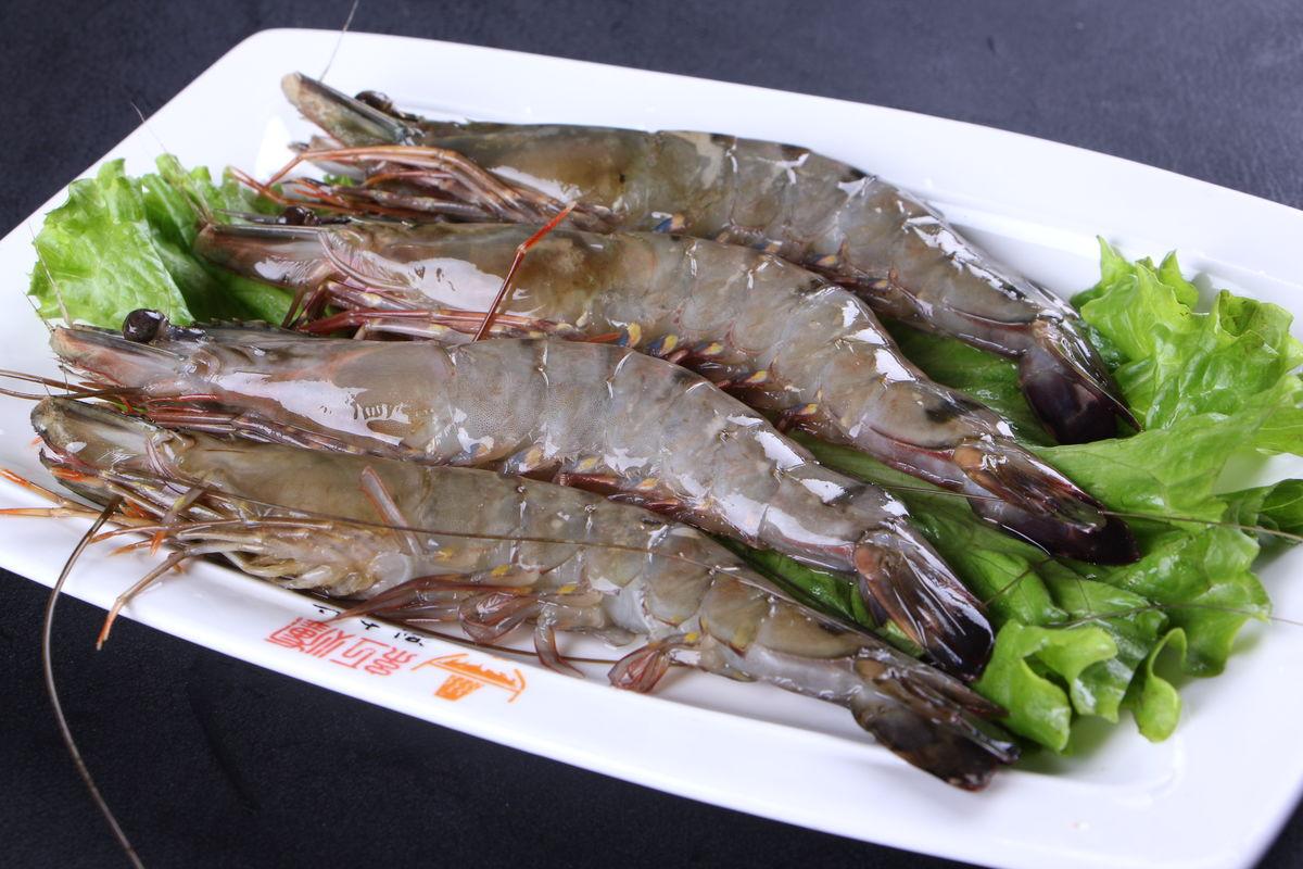 火锅涮菜,火锅涮品,火锅菜品,大虾,青虾,河虾,活虾,对虾,河鲜图片