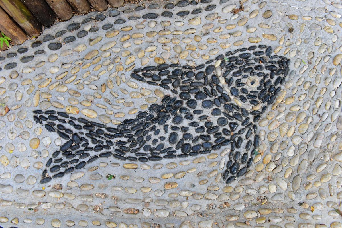 鱼纹造型 鹅卵石图片