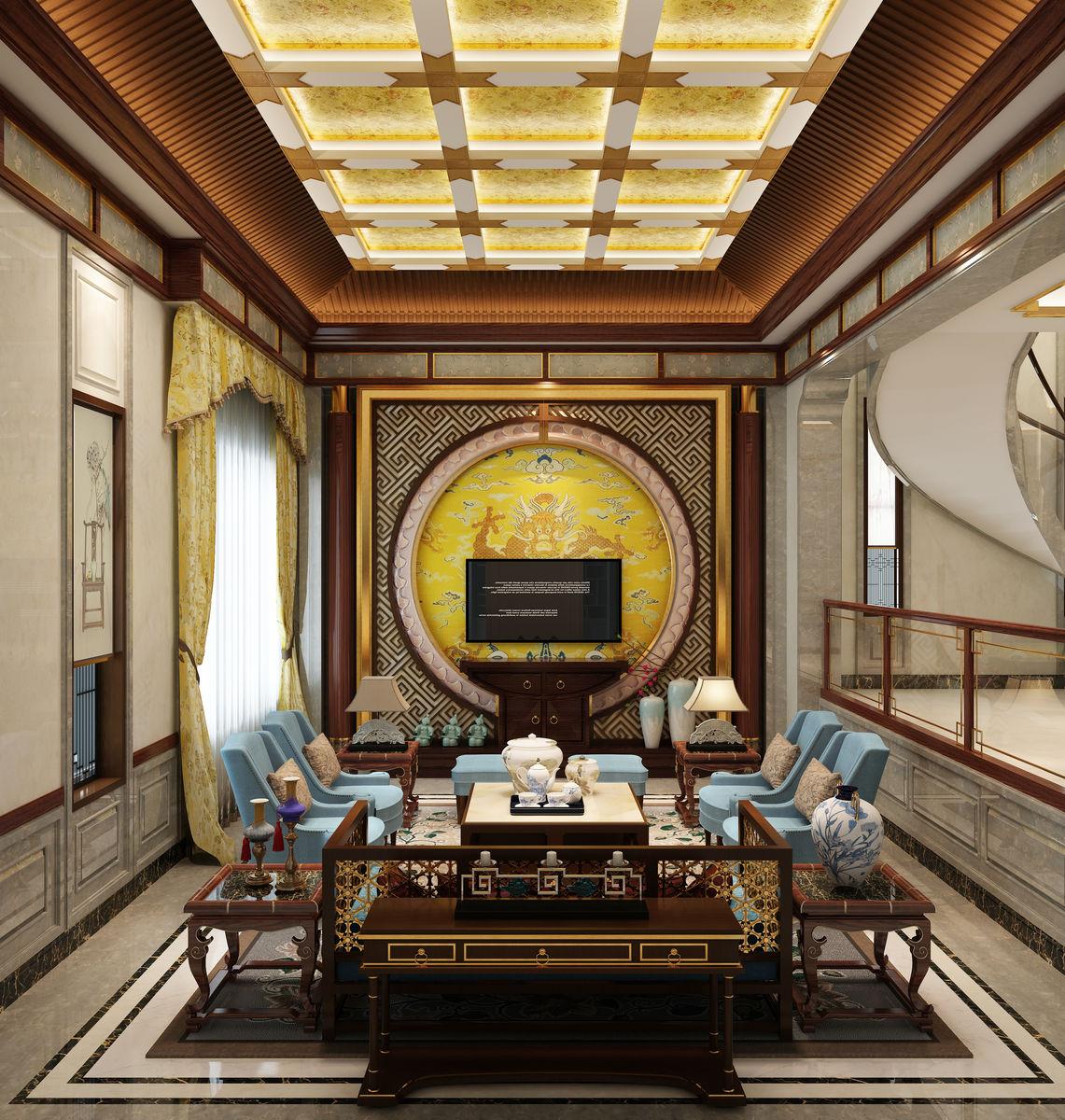 客厅,效果图,客厅装饰,新中式客厅,居室设计,客餐厅,室内装饰,现代图片