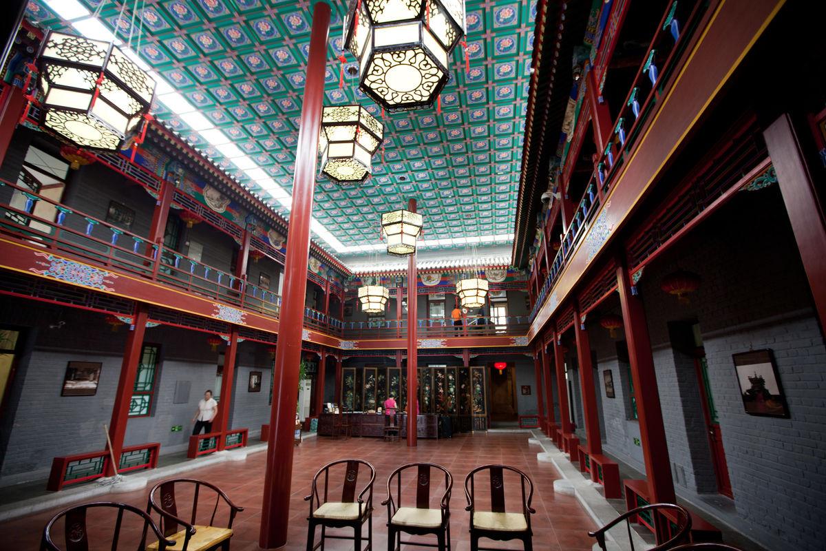 中式酒店大堂 酒店大厅图片