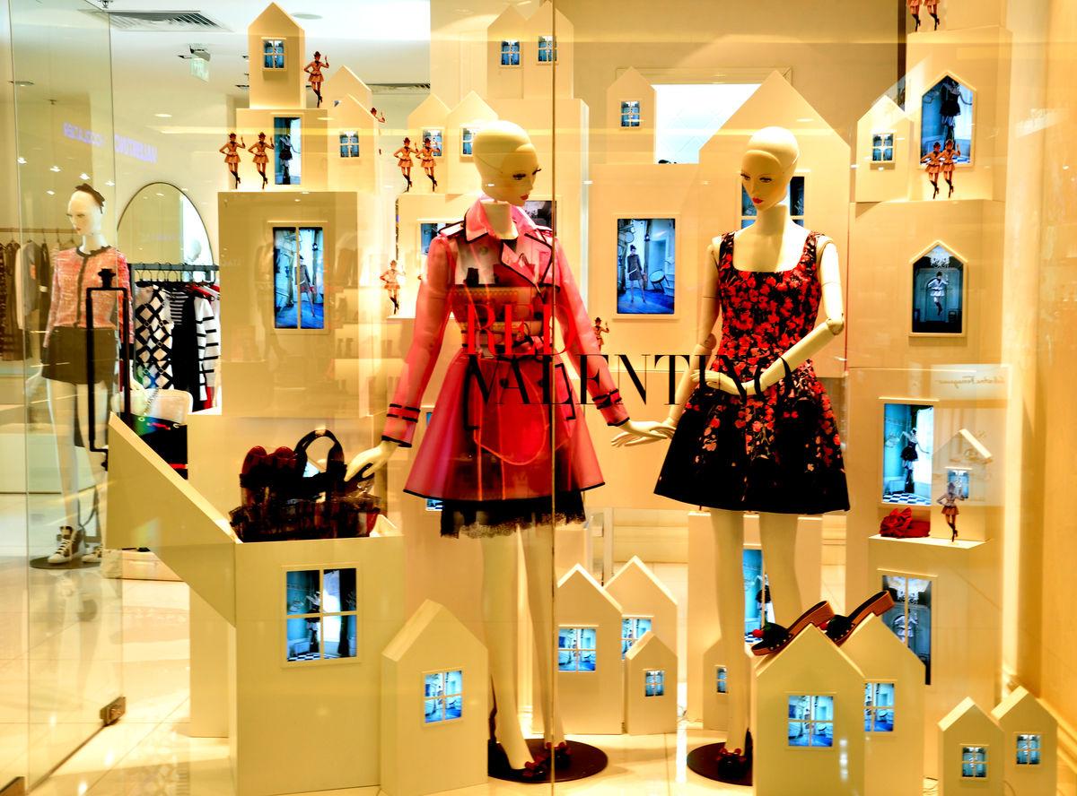 橱窗展示,模特,橱窗场景,橱窗设计,服装,时装,时尚,商业卖场,商场图片
