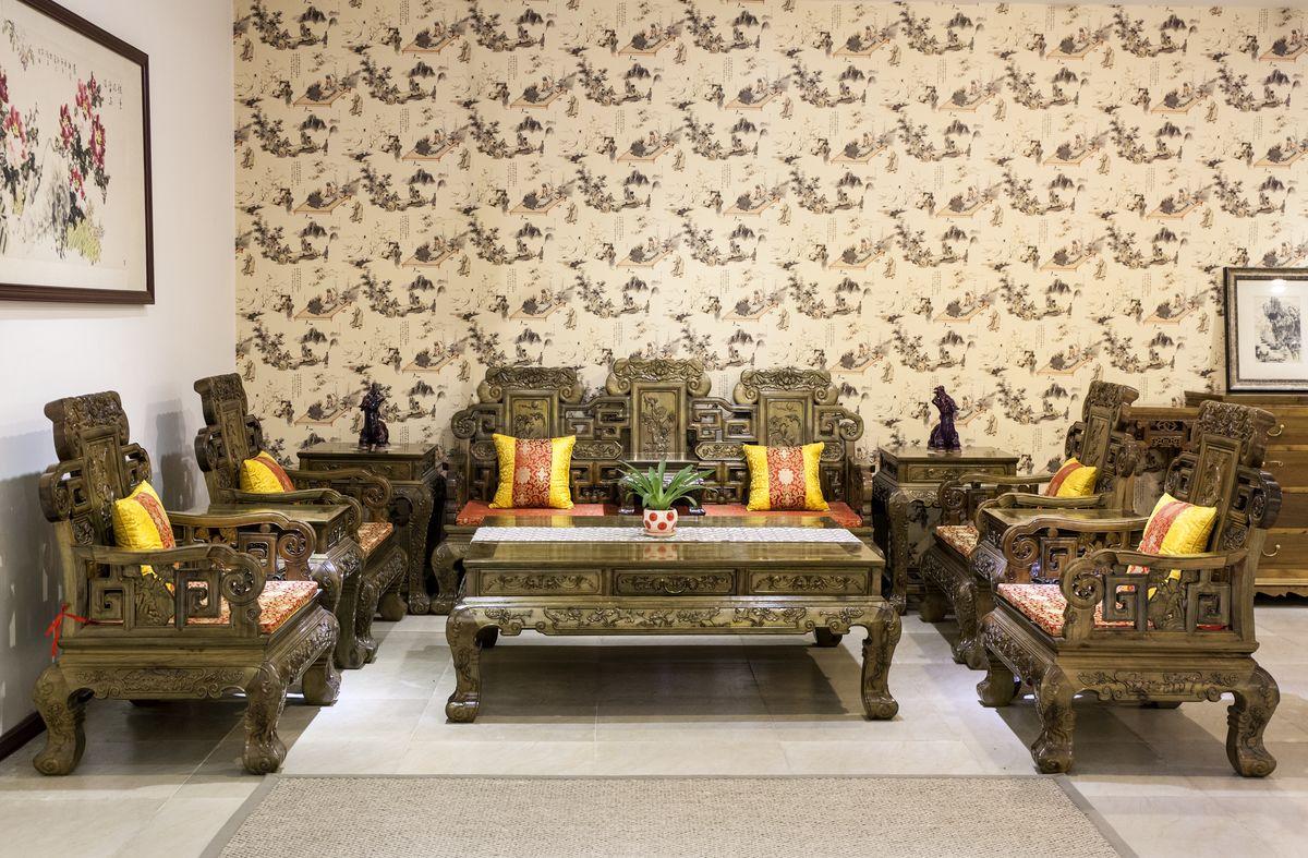 中式红木沙发图片