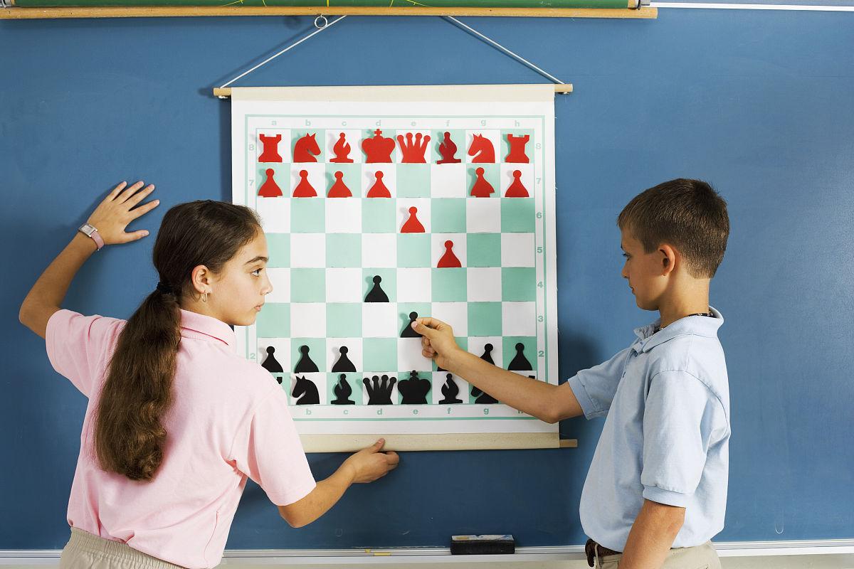 棋盘游戏,国际象棋,棋盘,知识,教,智慧,进行中,儿童,青少年,体育赛事图片