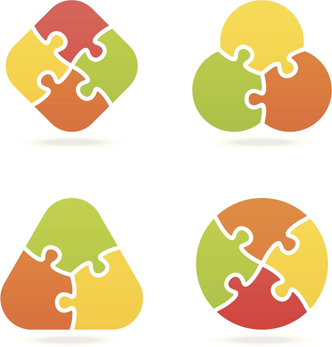 圆形,正方形,部分,休闲游戏,附着的,复杂性,计算机图标,七巧板,拼图拼图片