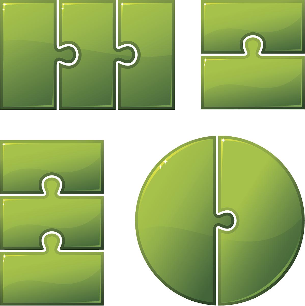 闪亮的,谜题游戏,形状,圆形,长方形,正方形,七巧板,拼图拼块,背景分离图片