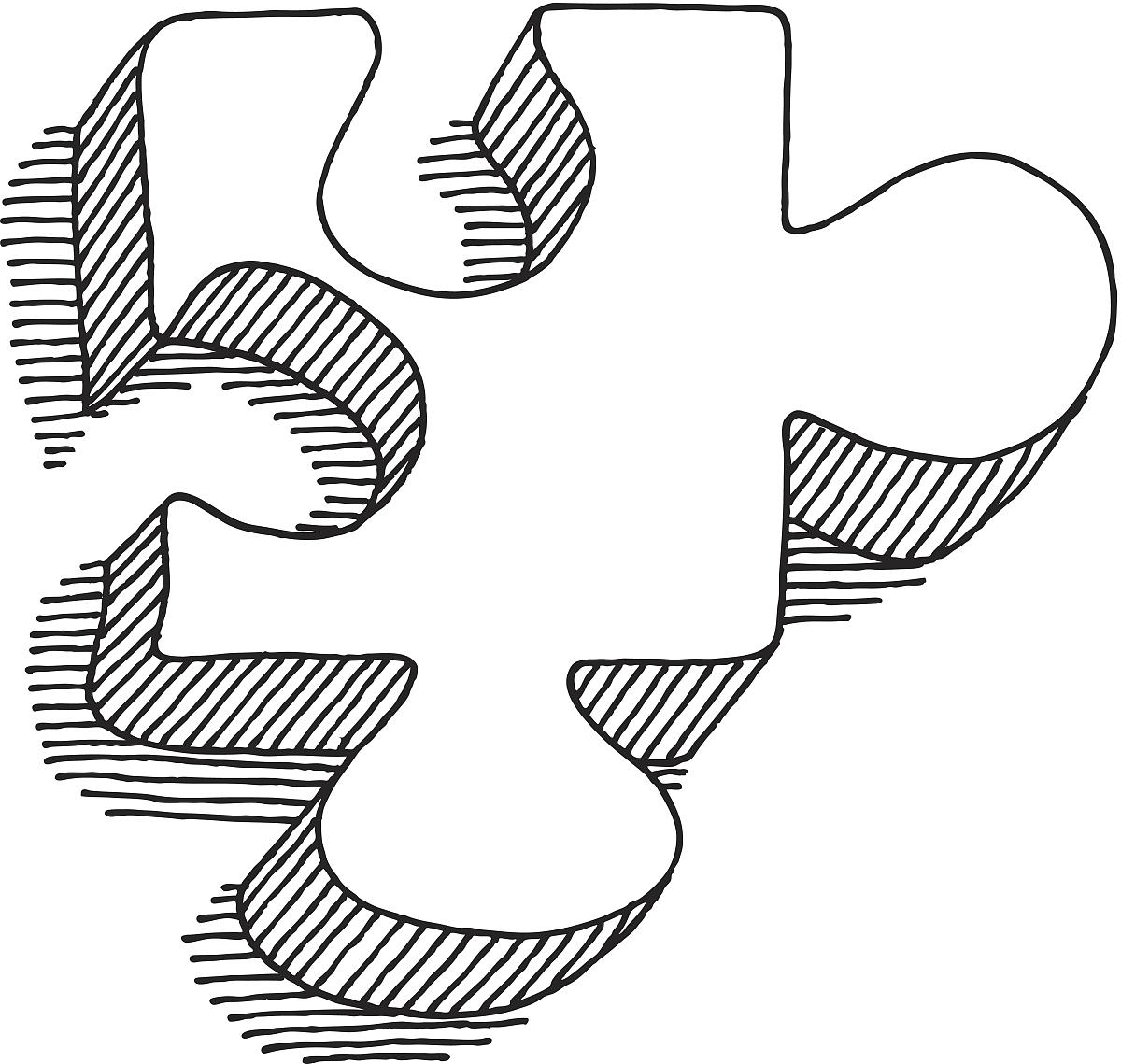 绘画插图,乱画,切断,白色背景,符号,透明,谜题游戏,空白的,正方形图片