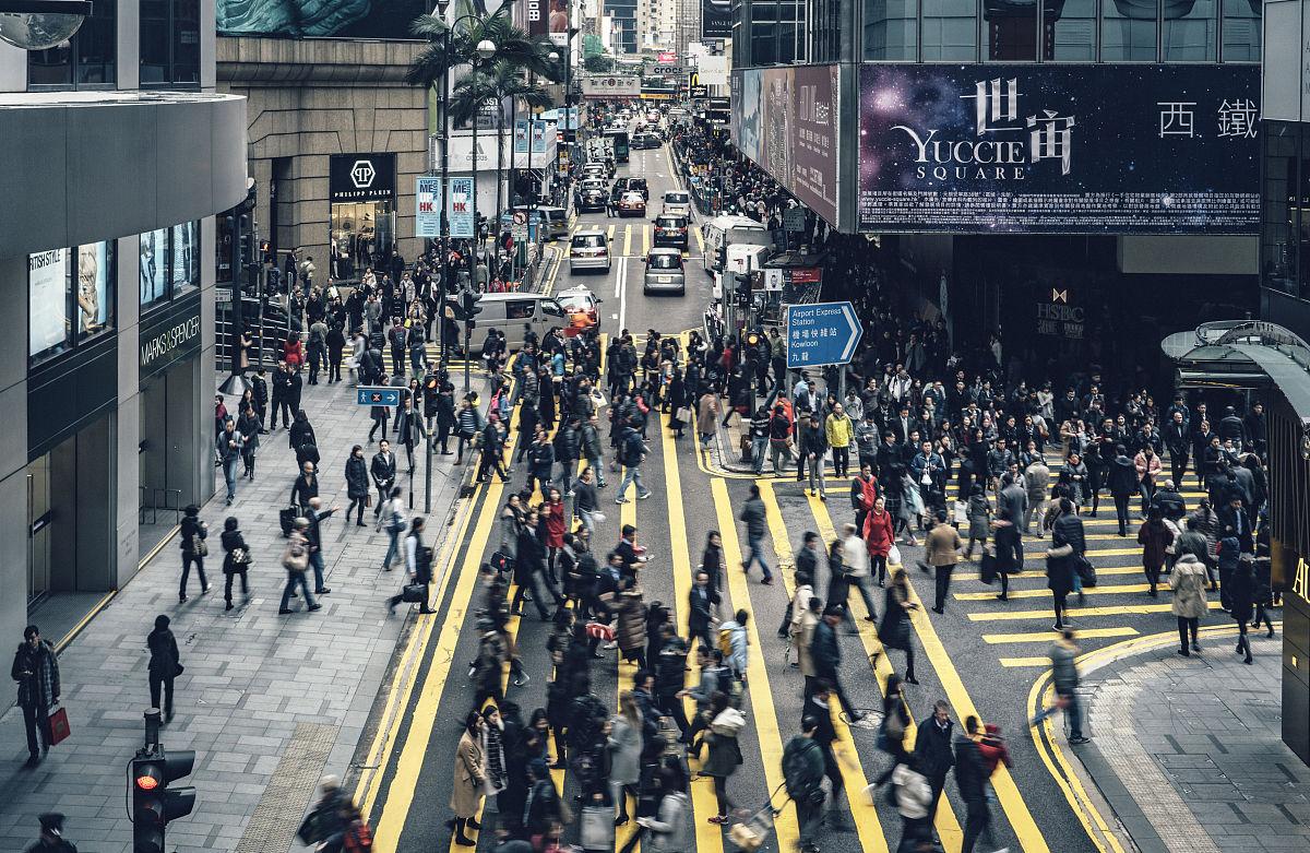 都市艳福行全文阅�_白昼,人,建筑外部,男人,拥挤的,香港,都市风光,陆用车,生活方式,人行