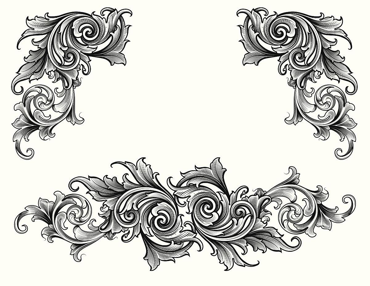 多层效果,古董,花纹,矢量,阿拉伯风格,装饰镜板,花形图案装饰,花体图片