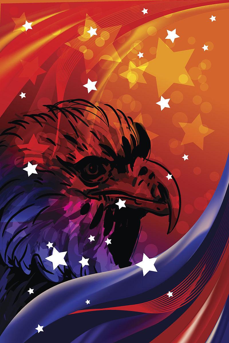 垂直画幅,爱国主义,红辣椒,美国,摇滚乐,美国国庆日,矢量,绘画作品图片