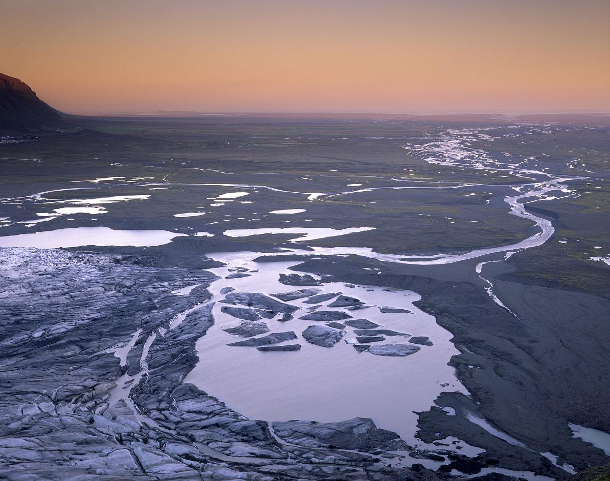 白昼,黄昏,国家公园,风景,彩色图片,瓦特纳冰川国家公园,全球变暖图片