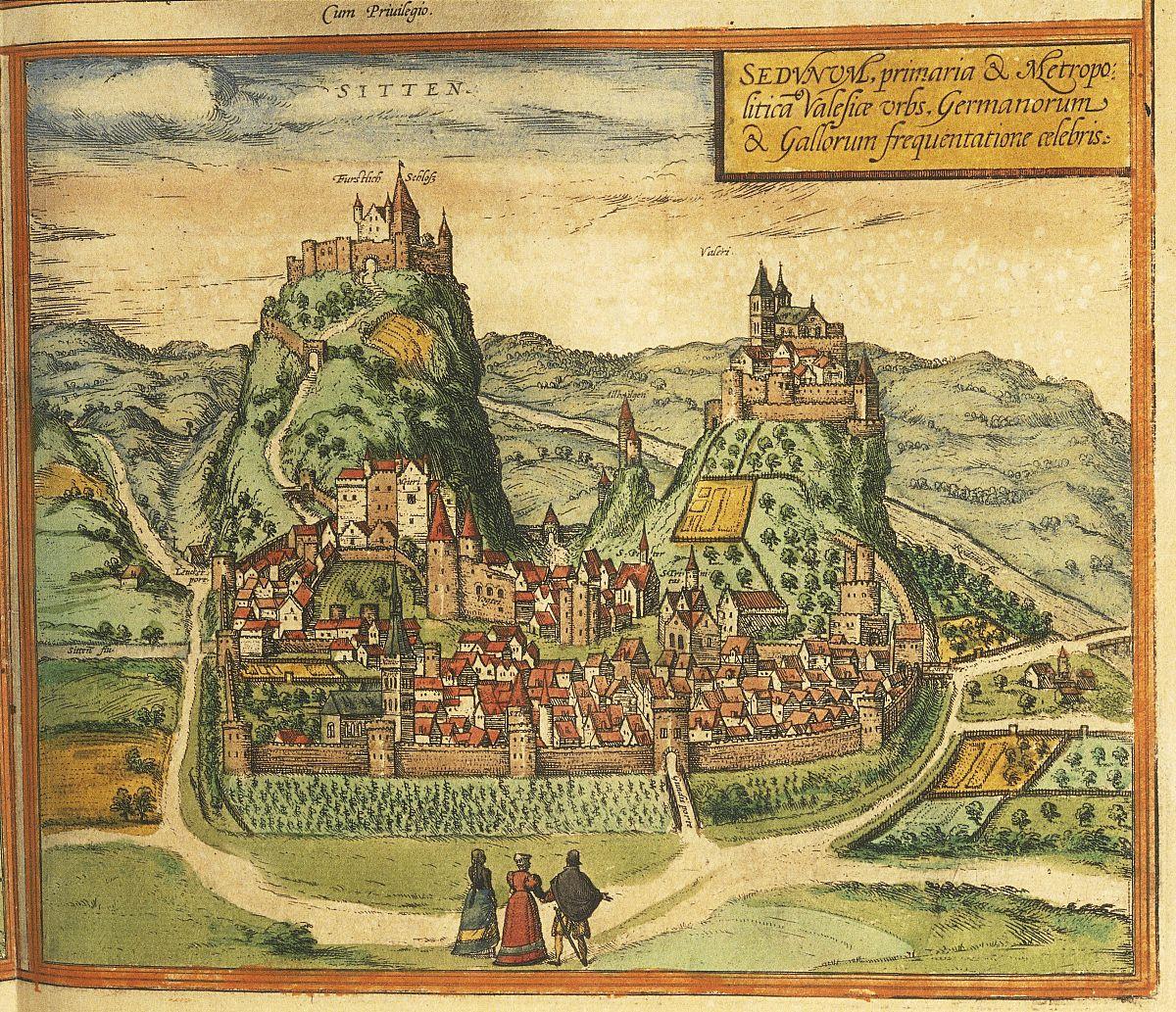 城镇,历史,水平画幅,影棚拍摄,宫殿,高视角,地图,瑞士,山,山,自然图片