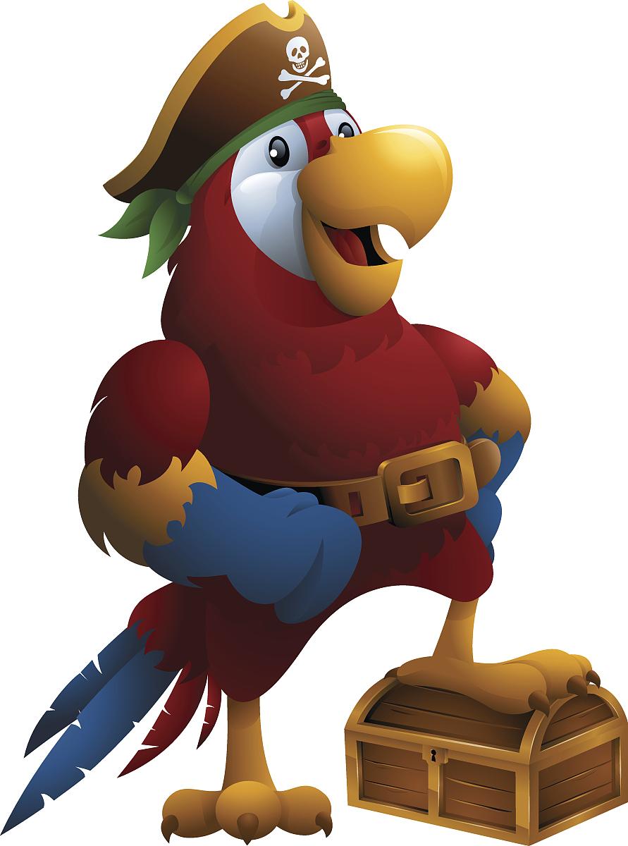 海盗和鹦鹉_猩红色的金刚鹦鹉:海盗鹦鹉