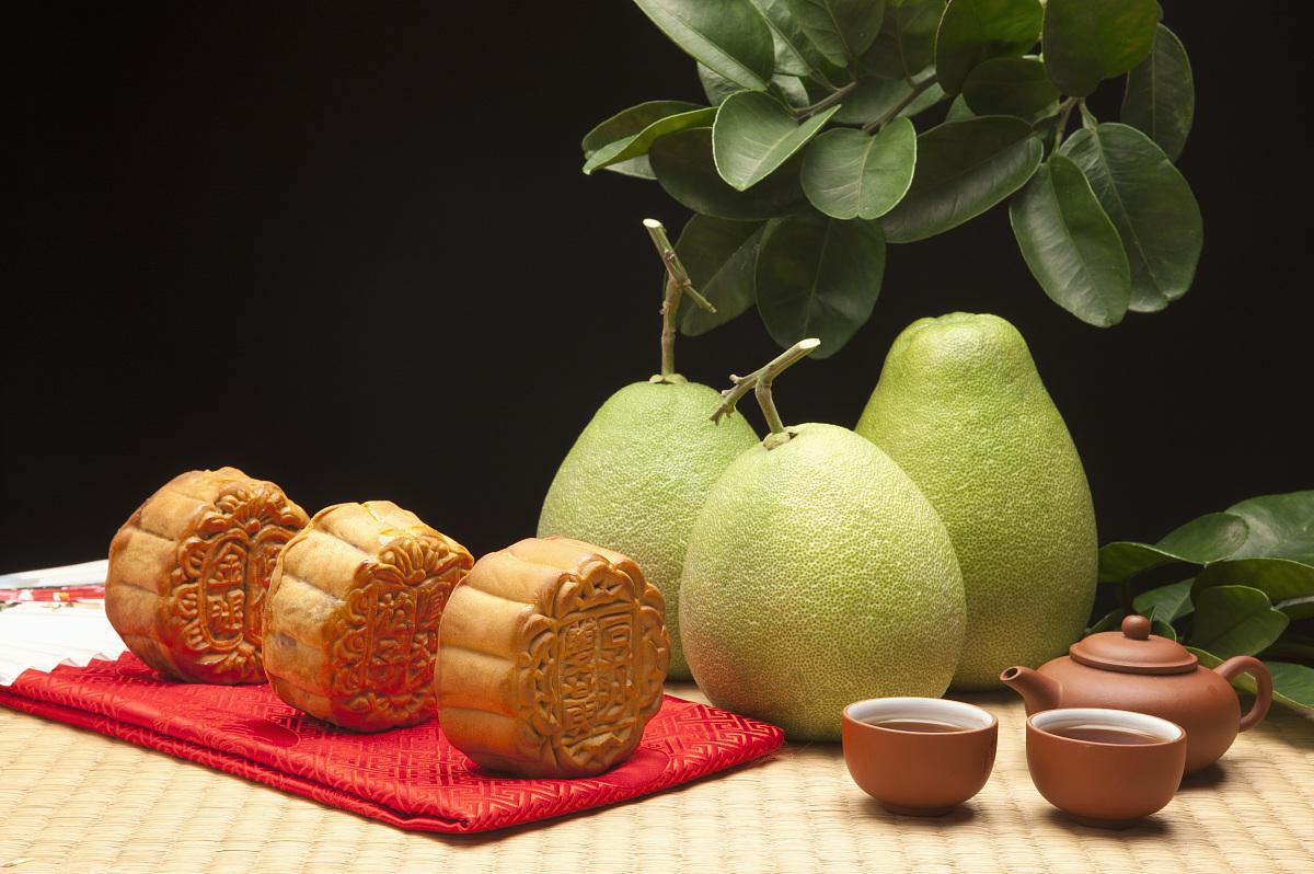 月饼,柚子图片