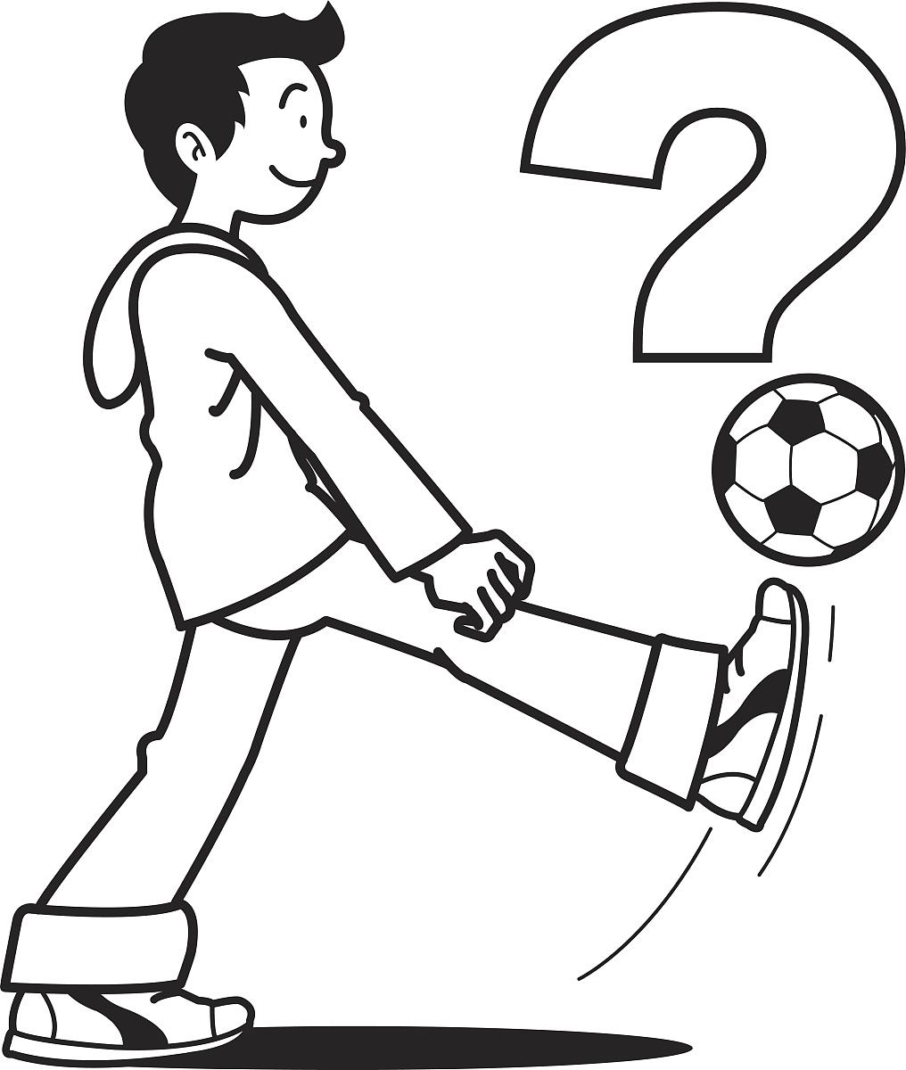 青少年,运动服,儿童,黑白图片,矢量,仅青少年,绘画插图,侧面视角,问号图片