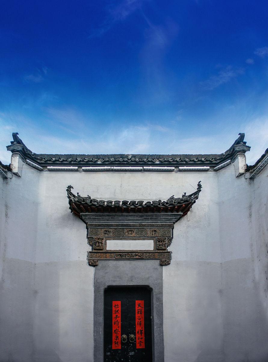 徽式建筑大门