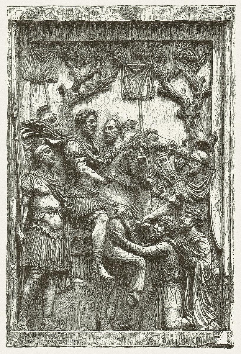 蚀刻版画,大约2世纪,木版画,雕刻图像,宽恕,浅浮雕,古罗马,中世纪图片