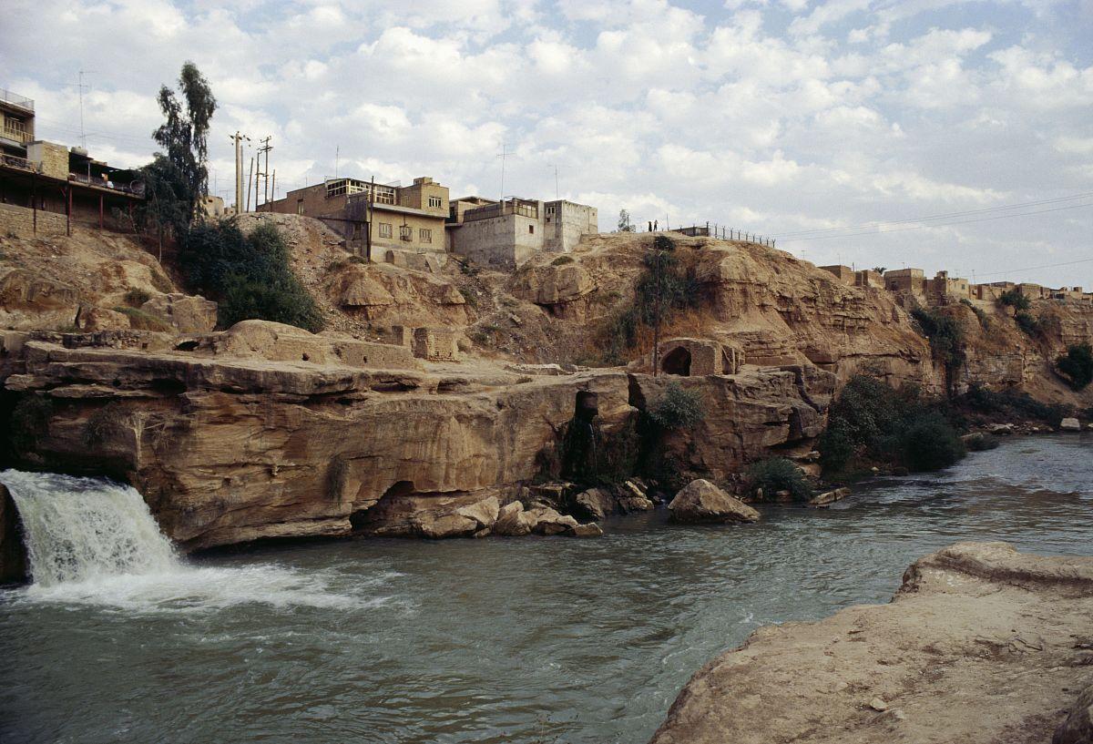 运河和历史的液压系统shushtar瀑布(联合国教科文组织世界文化遗产图片