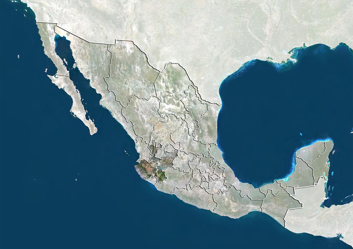 州�9k�yley�.���X{�zy_墨西哥和哈利斯科州州,真彩色卫星图像