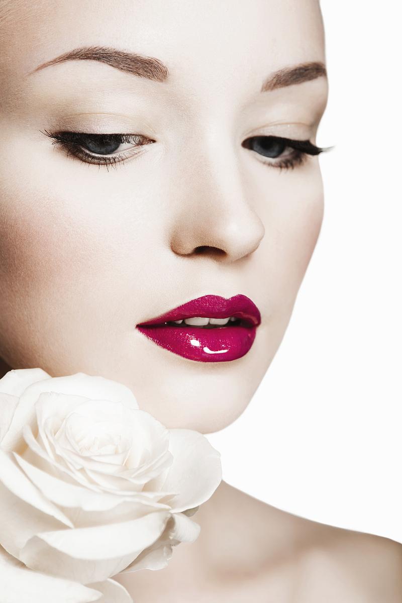 眉毛,娃娃,白人,新娘,美容师,婚礼,红色,花,花瓣,夏天,人间天堂,彩妆图片