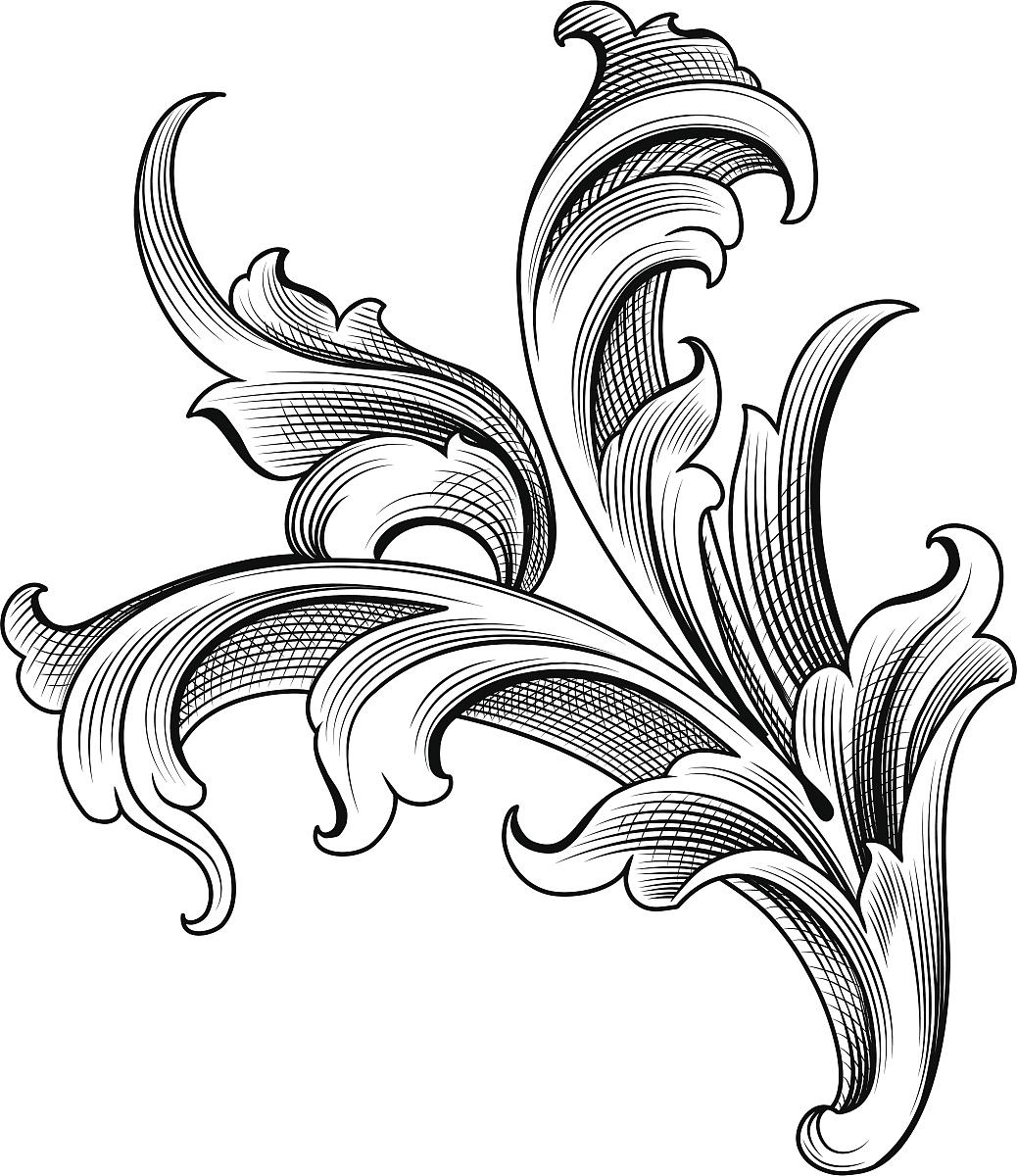 华丽的,雕刻图像,古董,矢量,阿拉伯风格,装饰镜板,花形图案装饰,花体图片