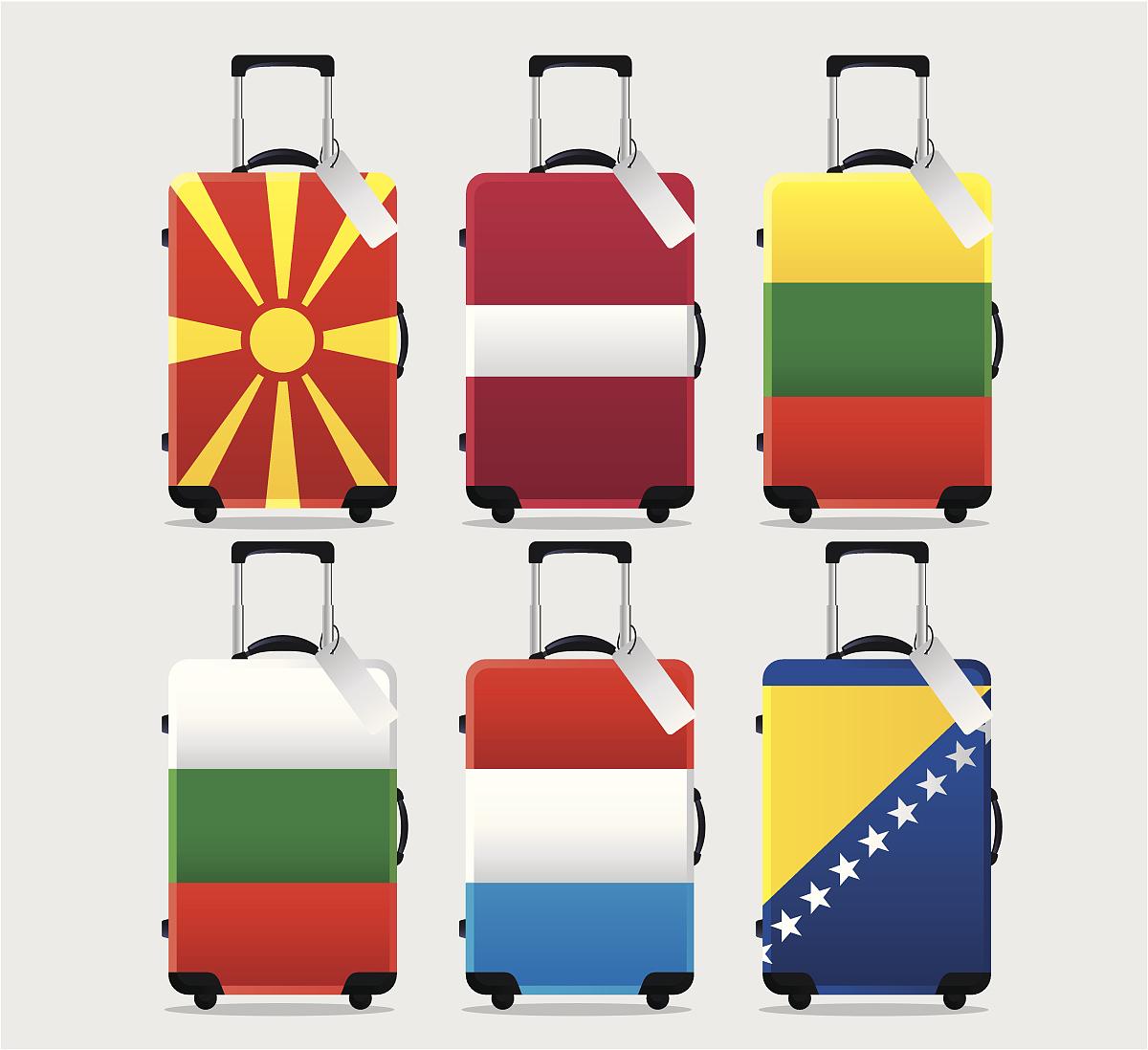 收集,旅途,度假,旗帜,欧洲,西欧,东欧,保加利亚,手提箱,南欧血统,国旗图片