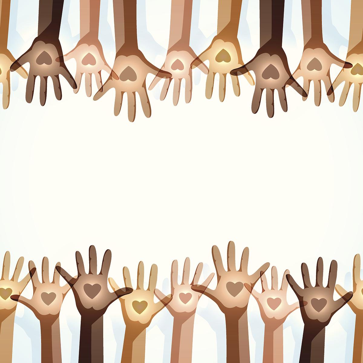 多样的慈善背景-无缝图片