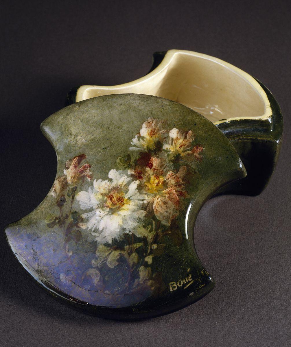 北京発-)�i)��o_陶瓷盒与印象主义风格花卉装饰,在1914之前,足总con decori floreali
