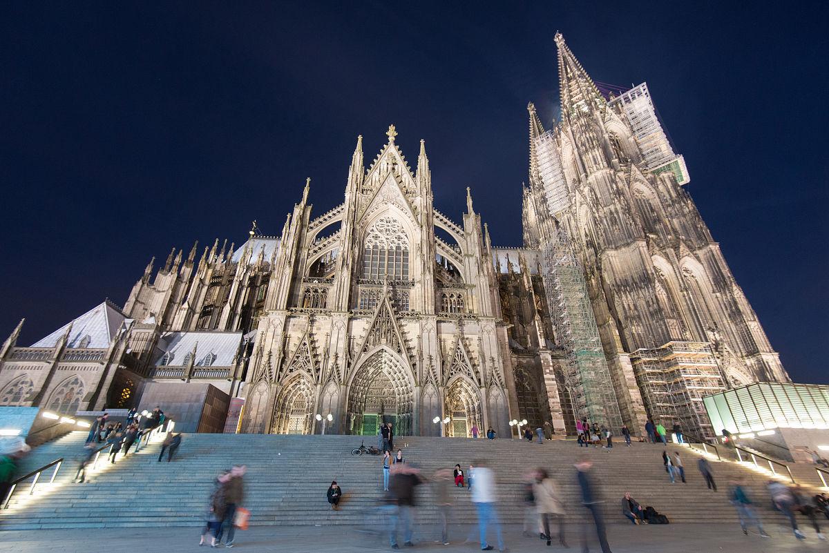 户外,广角,中世纪时代,哥特式风格,欧洲,宗教建筑,德国,教堂,大教堂图片