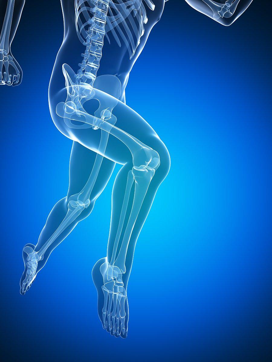 腰部骨骼固)�_人体解剖学,越野赛跑,健康保健,运动,腰部以下,骨头,彩色背景,慢跑