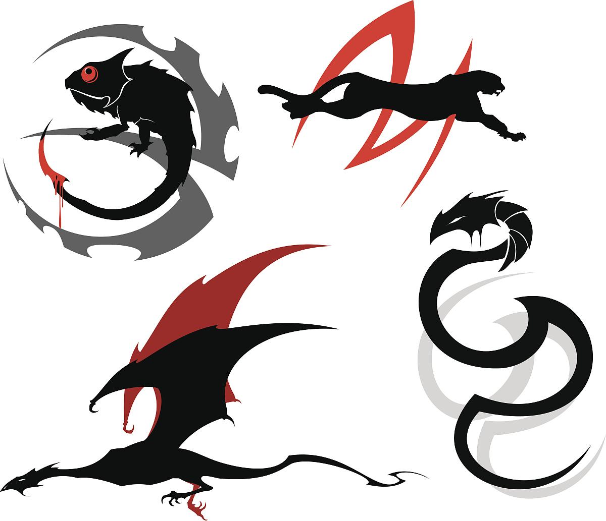 纹身,动物,飞,野外动物,黑色,猫科动物,野生猫科动物,猎豹,蛇,眼镜蛇图片