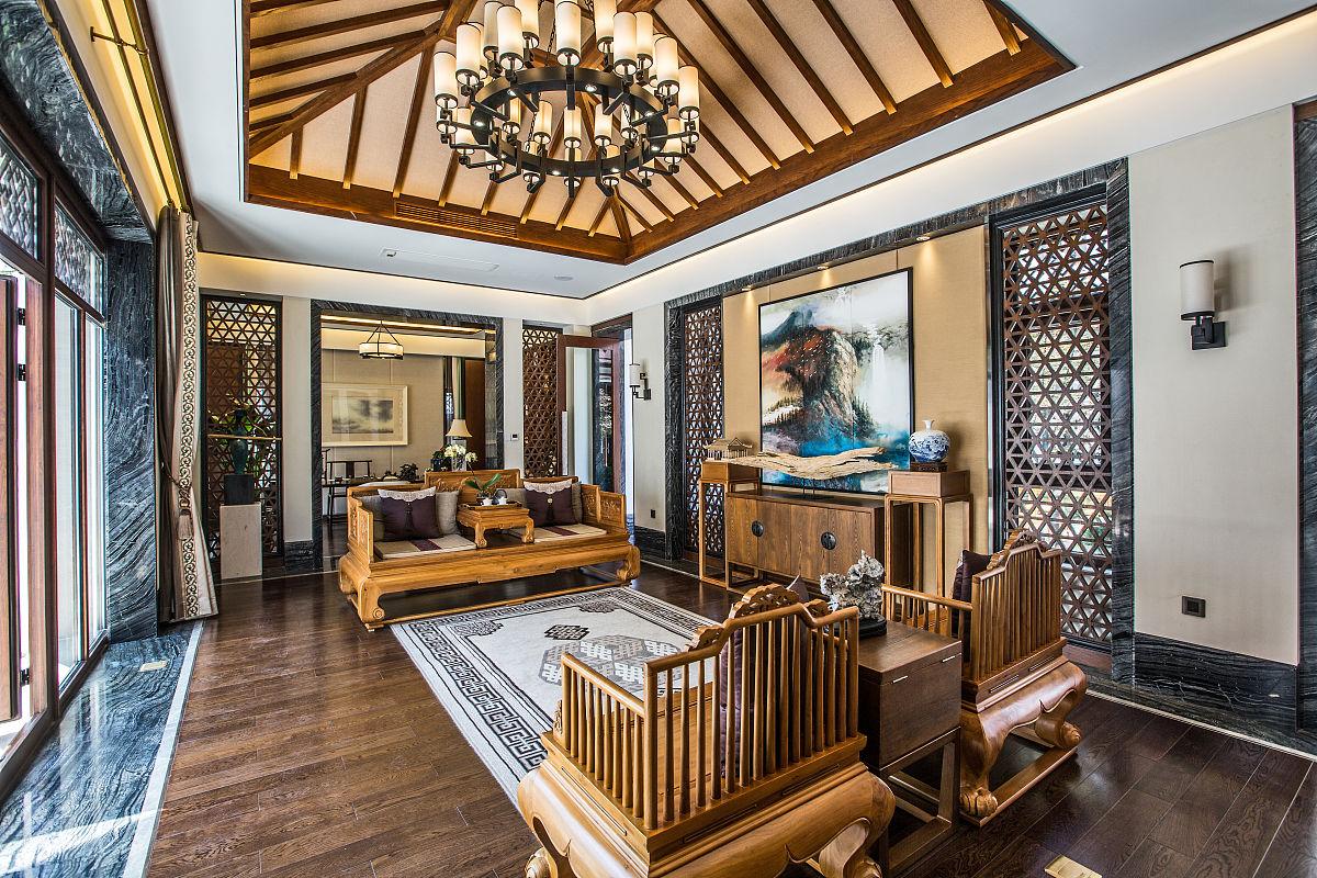 中式装修会客厅图片